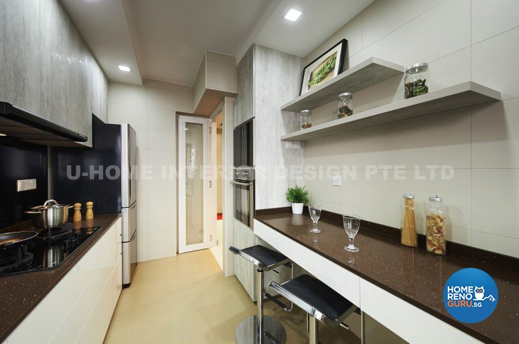 Contemporary, Modern Design - Kitchen - HDB 4 Room - Design by U-Home Interior Design Pte Ltd