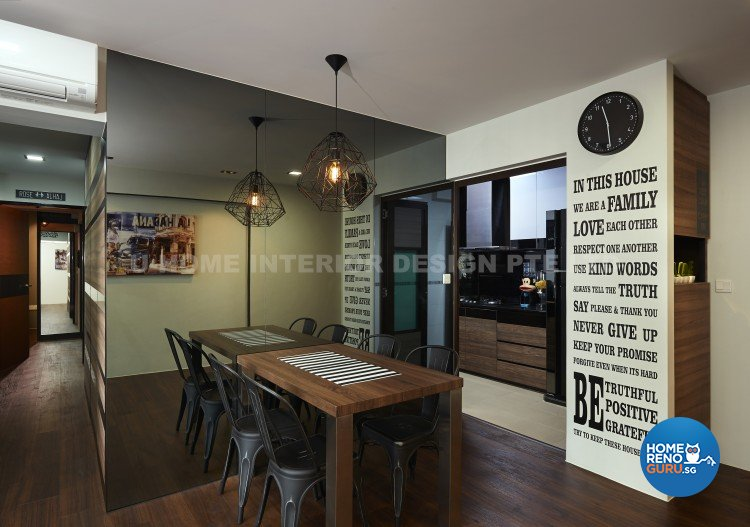 Contemporary, Country, Modern Design - Dining Room - HDB 4 Room - Design by U-Home Interior Design Pte Ltd
