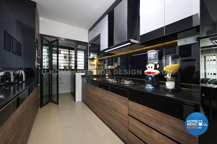 Contemporary, Country, Modern Design - Kitchen - HDB 4 Room - Design by U-Home Interior Design Pte Ltd