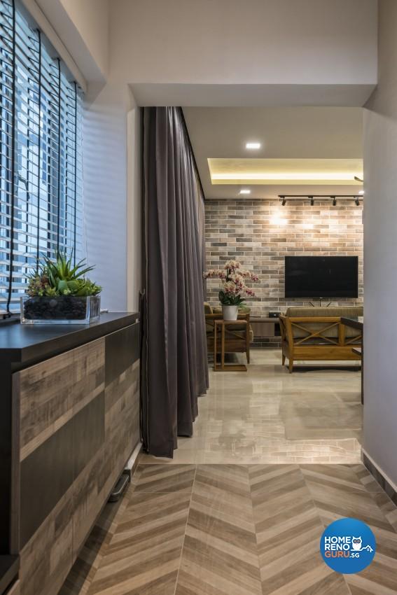 Scandinavian Design - Living Room - HDB 5 Room - Design by U-Home Interior Design Pte Ltd