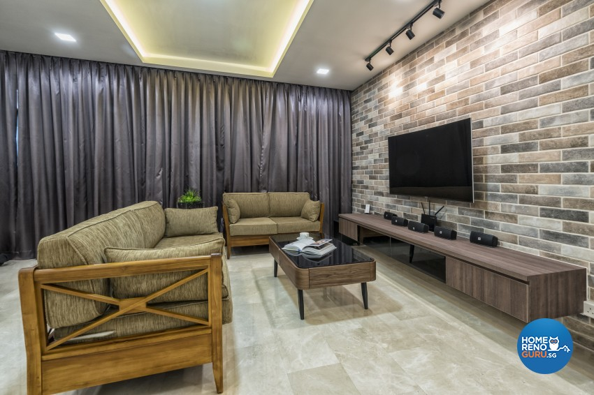 Scandinavian Design - Living Room - HDB 5 Room - Design by U-Home Interior Design Pte Ltd