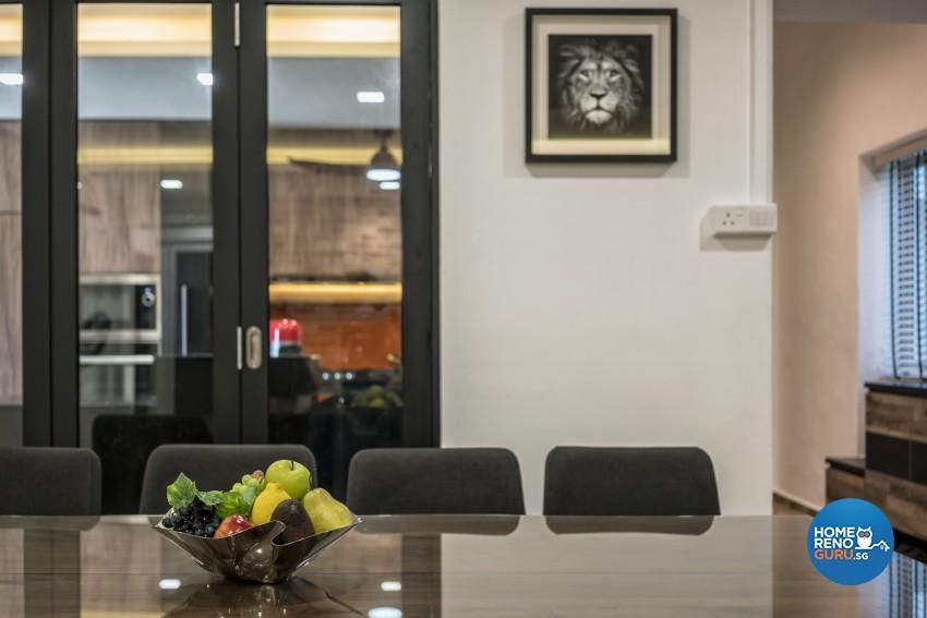 Scandinavian Design - Dining Room - HDB 5 Room - Design by U-Home Interior Design Pte Ltd