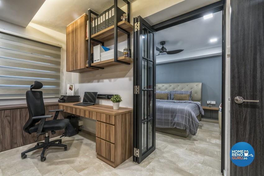 Scandinavian Design - Study Room - HDB 5 Room - Design by U-Home Interior Design Pte Ltd