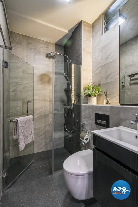Scandinavian Design - Bathroom - HDB 5 Room - Design by U-Home Interior Design Pte Ltd