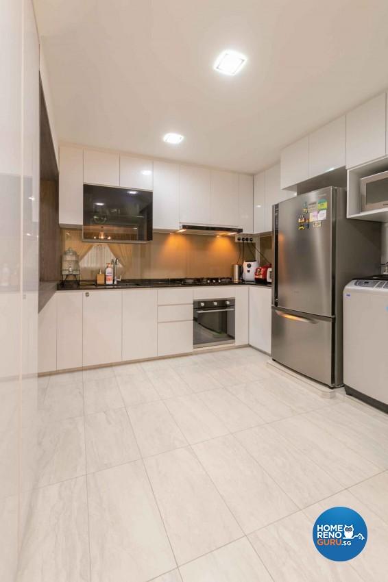 Contemporary, Modern Design - Kitchen - HDB 4 Room - Design by U-Home Interior Design Pte Ltd
