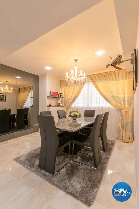 Contemporary, Modern Design - Dining Room - HDB 4 Room - Design by U-Home Interior Design Pte Ltd