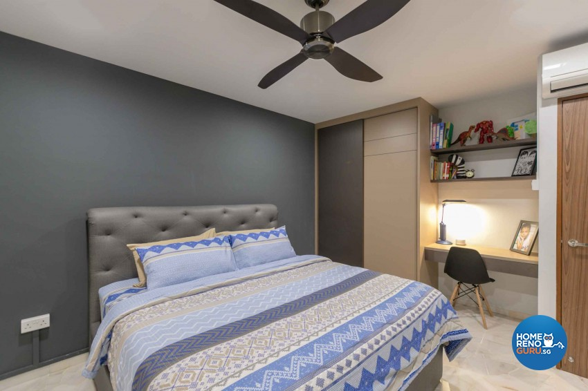 Contemporary, Modern Design - Bedroom - HDB 4 Room - Design by U-Home Interior Design Pte Ltd