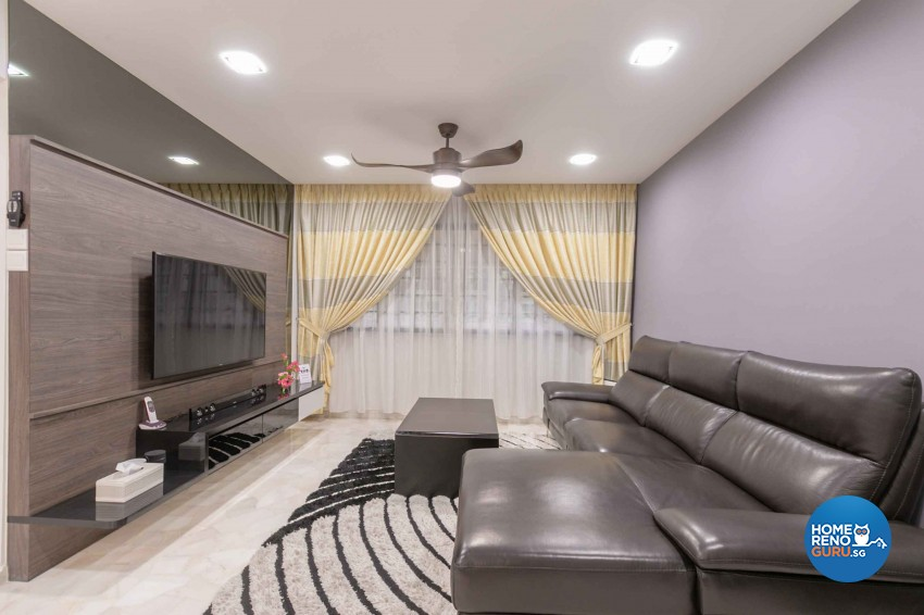 Contemporary, Modern Design - Living Room - HDB 4 Room - Design by U-Home Interior Design Pte Ltd