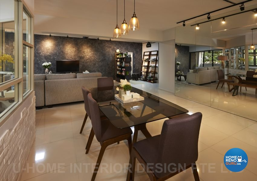 Industrial, Rustic Design - Dining Room - HDB Executive Apartment - Design by U-Home Interior Design Pte Ltd