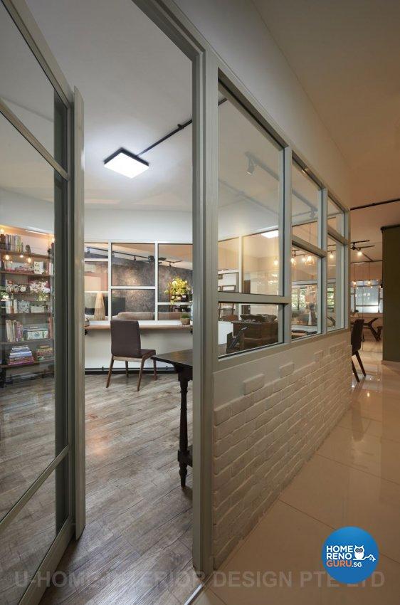 Industrial, Rustic Design - Study Room - HDB Executive Apartment - Design by U-Home Interior Design Pte Ltd