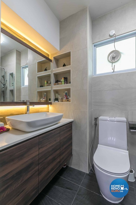 Modern Design - Bathroom - HDB 4 Room - Design by U-Home Interior Design Pte Ltd