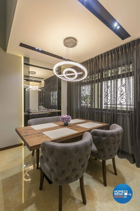 Modern Design - Dining Room - HDB 4 Room - Design by U-Home Interior Design Pte Ltd