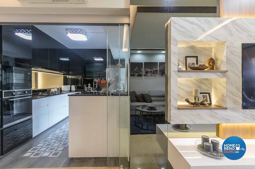 Modern Design - Dining Room - HDB 4 Room - Design by U-Home Interior Design Pte Ltd