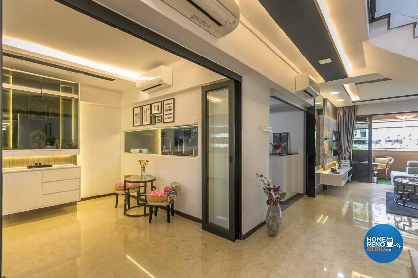 Modern Design - Living Room - HDB 4 Room - Design by U-Home Interior Design Pte Ltd