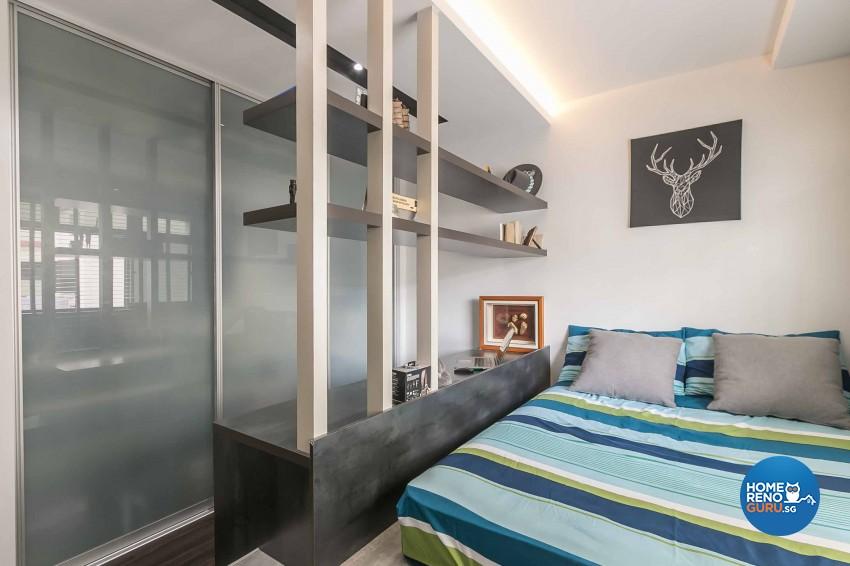 Modern Design - Bedroom - HDB 4 Room - Design by U-Home Interior Design Pte Ltd