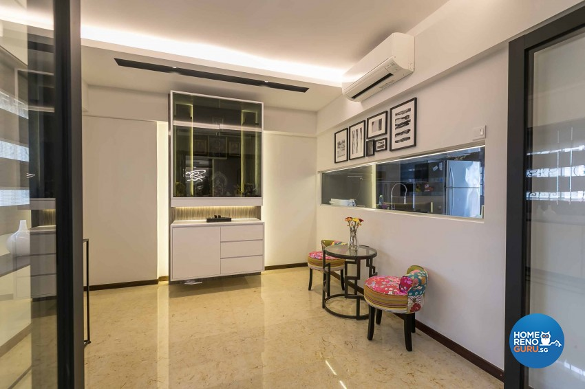 Modern Design - Kitchen - HDB 4 Room - Design by U-Home Interior Design Pte Ltd