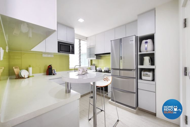 Contemporary, Modern Design - Kitchen - Condominium - Design by U-Home Interior Design Pte Ltd