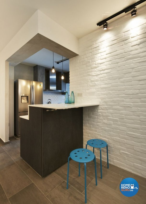 Country, Eclectic, Industrial Design - Kitchen - HDB 3 Room - Design by U-Home Interior Design Pte Ltd