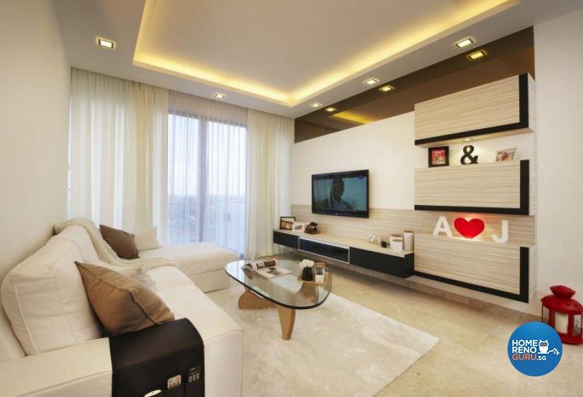 Contemporary, Modern, Scandinavian Design - Living Room - Condominium - Design by U-Home Interior Design Pte Ltd
