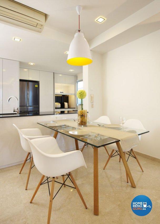 Contemporary, Modern, Scandinavian Design - Dining Room - Condominium - Design by U-Home Interior Design Pte Ltd