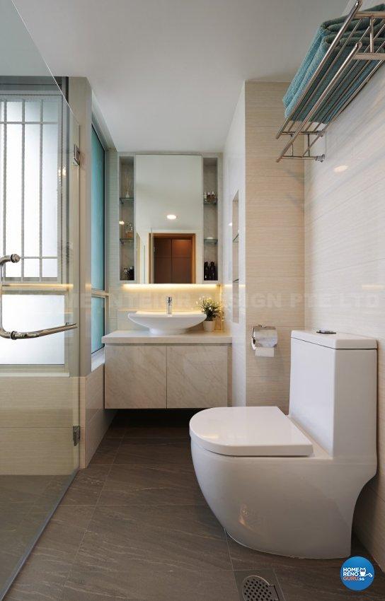 Contemporary, Modern Design - Bathroom - Condominium - Design by U-Home Interior Design Pte Ltd