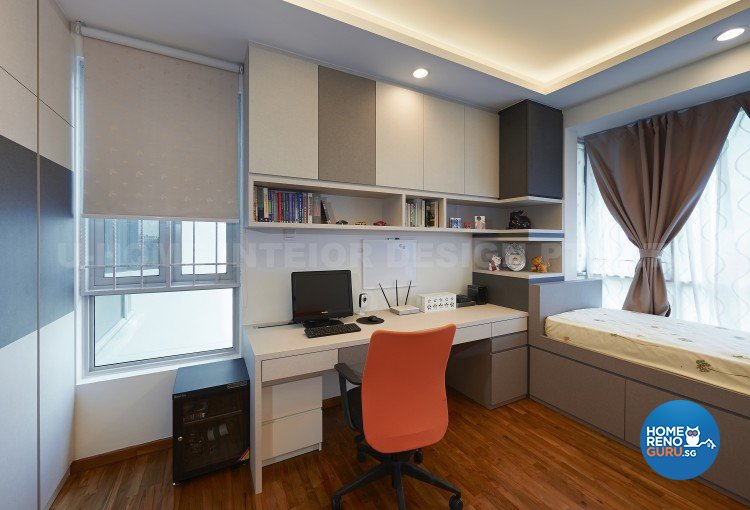 Contemporary, Modern Design - Study Room - Condominium - Design by U-Home Interior Design Pte Ltd