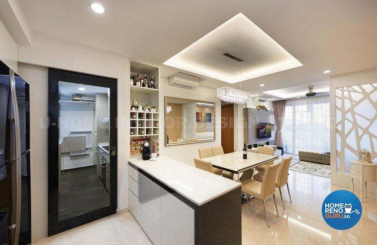 Contemporary, Modern Design - Dining Room - Condominium - Design by U-Home Interior Design Pte Ltd