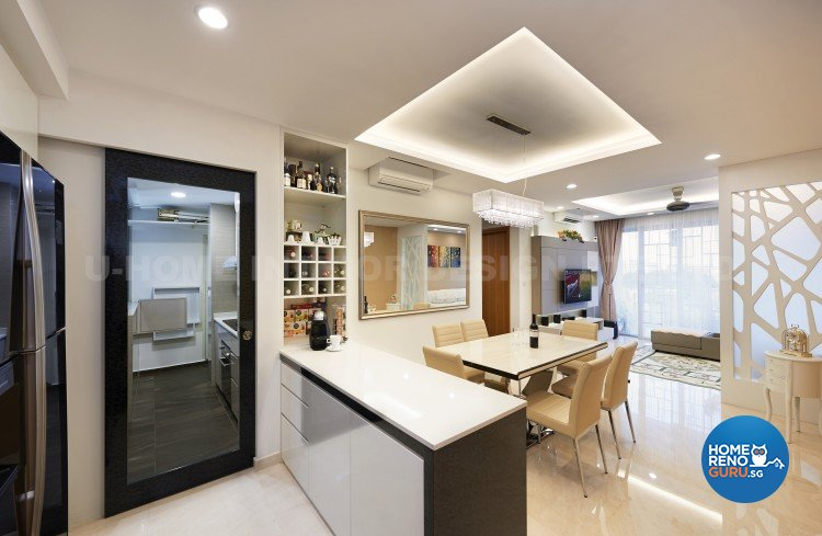 Contemporary, Modern Design - Dining Room - Condominium - Design by U-Home Interior Design Pte Ltd