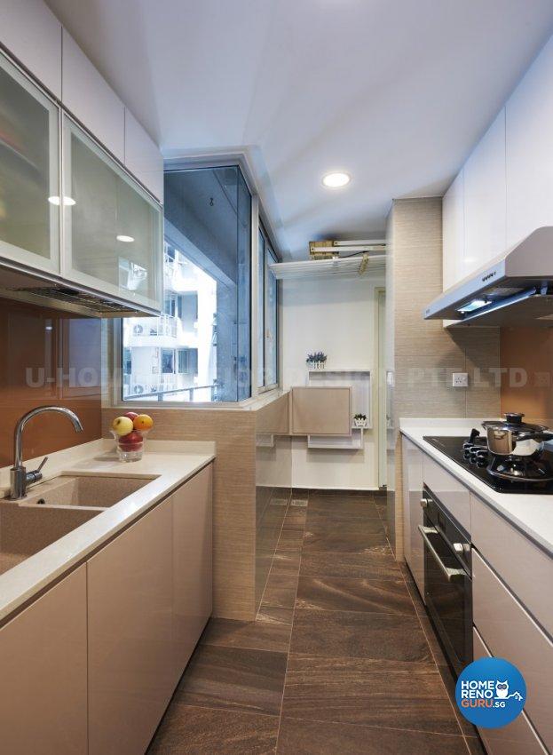 Contemporary, Modern Design - Kitchen - Condominium - Design by U-Home Interior Design Pte Ltd