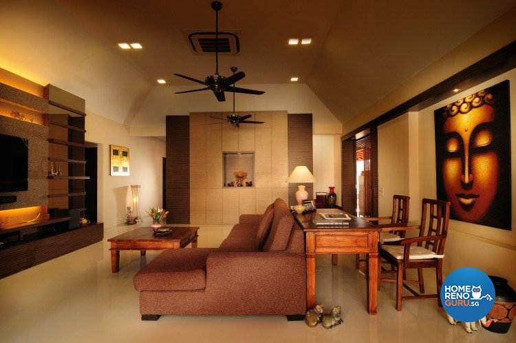 Contemporary, Country, Modern Design - Living Room - Landed House - Design by U-Home Interior Design Pte Ltd