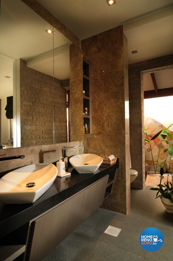 Contemporary, Country, Modern Design - Bathroom - Landed House - Design by U-Home Interior Design Pte Ltd