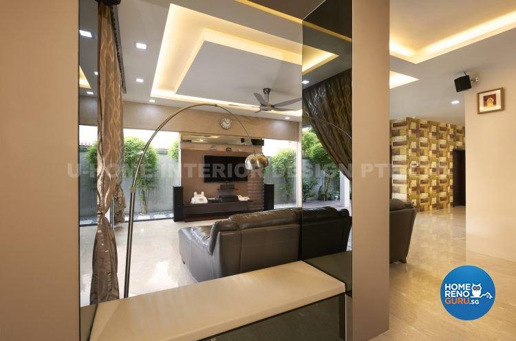 Contemporary, Modern, Retro Design - Living Room - Landed House - Design by U-Home Interior Design Pte Ltd