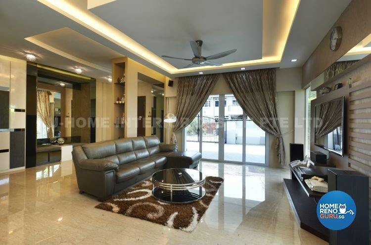 Contemporary, Modern, Retro Design - Living Room - Landed House - Design by U-Home Interior Design Pte Ltd