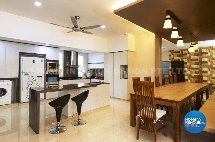 Contemporary, Modern, Retro Design - Kitchen - Landed House - Design by U-Home Interior Design Pte Ltd