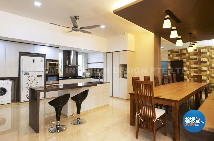 Contemporary, Modern, Retro Design - Kitchen - Landed House - Design by U-Home Interior Design Pte Ltd