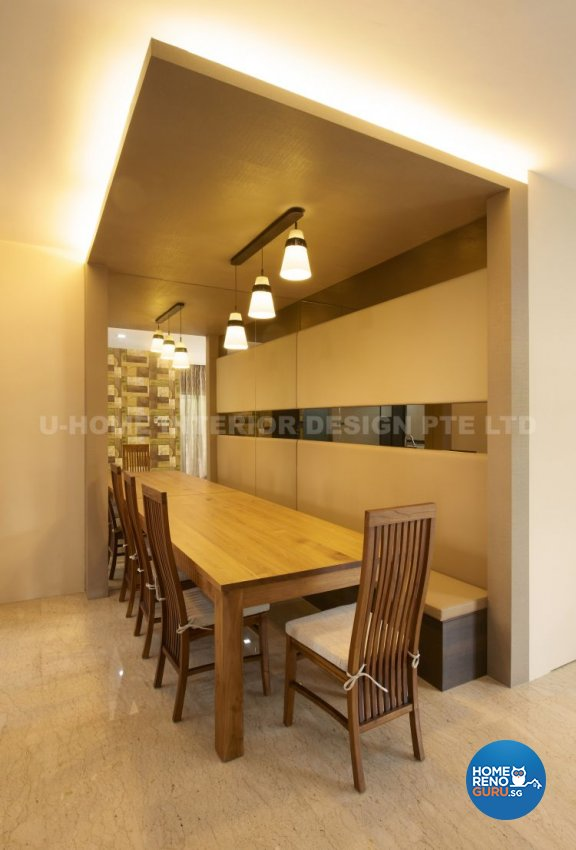 Contemporary, Modern, Retro Design - Dining Room - Landed House - Design by U-Home Interior Design Pte Ltd