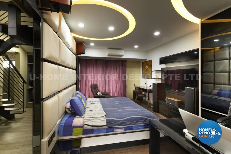 Contemporary, Modern, Retro Design - Bedroom - Landed House - Design by U-Home Interior Design Pte Ltd