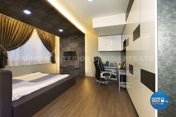 Contemporary, Modern, Retro Design - Bedroom - Landed House - Design by U-Home Interior Design Pte Ltd