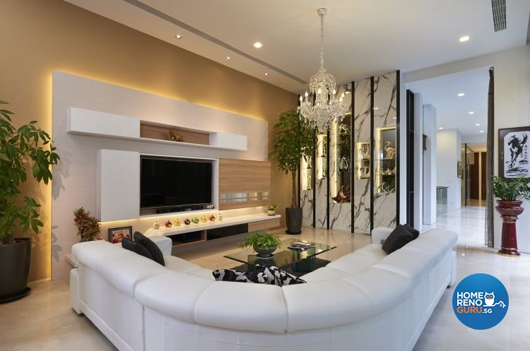 Minimalist, Modern Design - Living Room - Landed House - Design by U-Home Interior Design Pte Ltd
