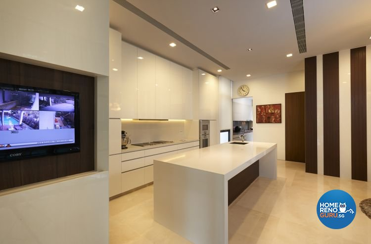 Minimalist, Modern Design - Kitchen - Landed House - Design by U-Home Interior Design Pte Ltd