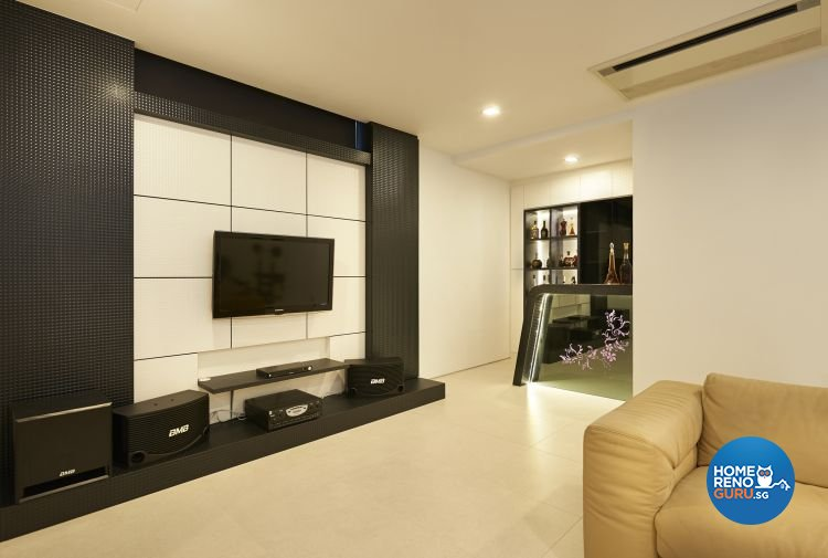 Minimalist, Modern Design - Entertainment Room - Landed House - Design by U-Home Interior Design Pte Ltd