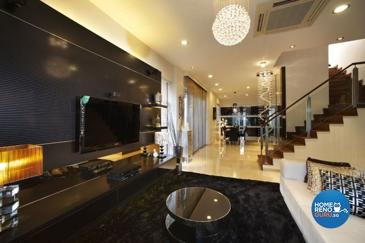 Classical, Modern Design - Living Room - Landed House - Design by U-Home Interior Design Pte Ltd