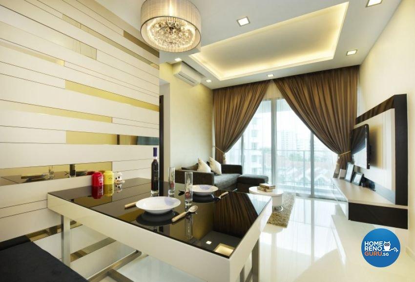 Contemporary, Modern Design - Living Room - Condominium - Design by U-Home Interior Design Pte Ltd