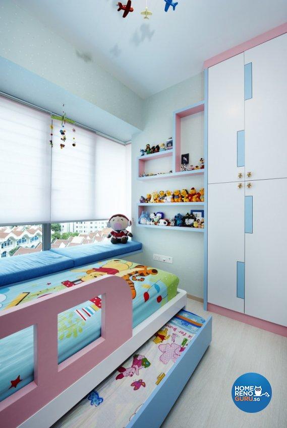 Contemporary, Modern Design - Bedroom - Condominium - Design by U-Home Interior Design Pte Ltd