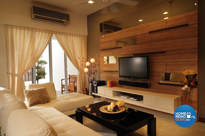 Modern, Rustic, Scandinavian Design - Living Room - Landed House - Design by U-Home Interior Design Pte Ltd