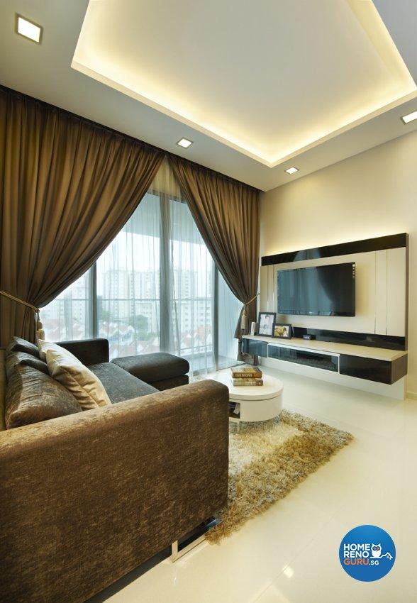 Modern, Rustic, Scandinavian Design - Living Room - Landed House - Design by U-Home Interior Design Pte Ltd