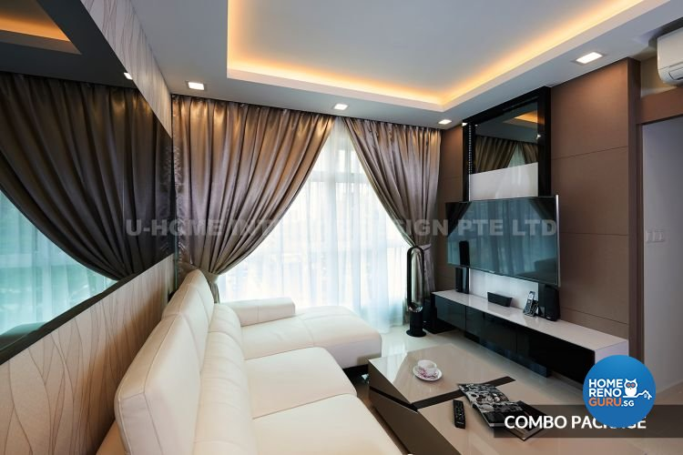 Modern Design - Living Room - HDB 4 Room - Design by U-Home Interior Design Pte Ltd
