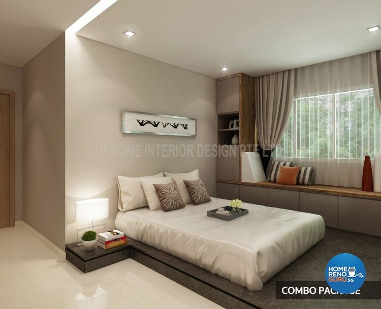 Modern Design - Bedroom - HDB 4 Room - Design by U-Home Interior Design Pte Ltd