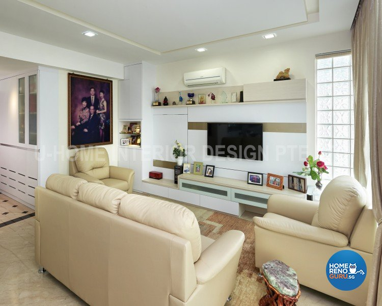 Minimalist, Modern Design - Living Room - Condominium - Design by U-Home Interior Design Pte Ltd