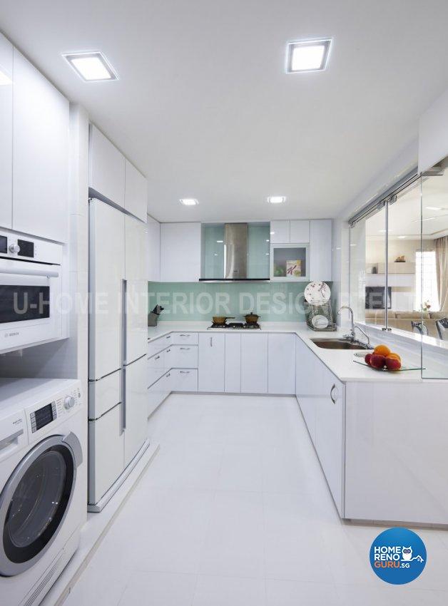 Minimalist, Modern Design - Kitchen - Condominium - Design by U-Home Interior Design Pte Ltd
